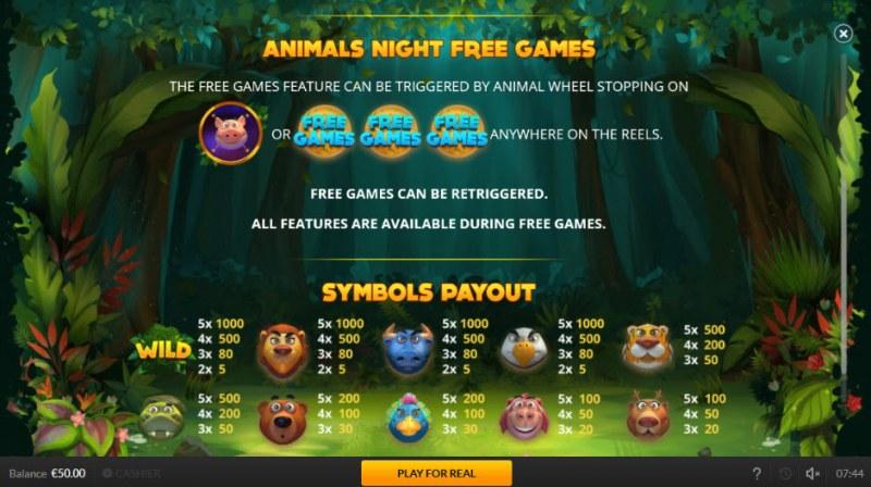 Jogo Do Bicho :: Animal's Night Free Games