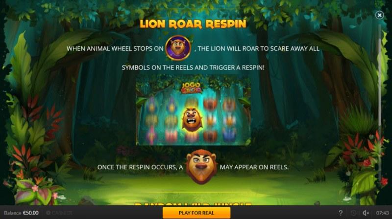 Jogo Do Bicho :: Lion Roar Respin Feature