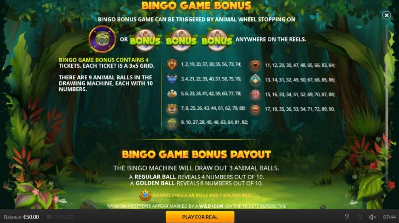 Jogo Do Bicho :: Bingo Game Bonus Feature