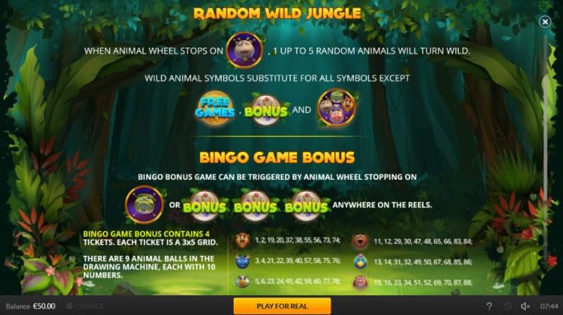 Jogo Do Bicho :: Random Wild Jungle Feature