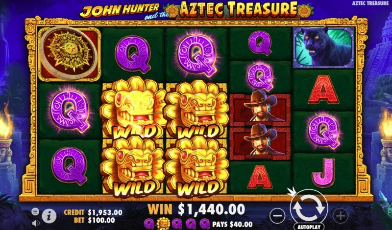 Play slots at Tangiers: Tangiers featuring the Video Slots John Hunter and the Aztec Treasure with a maximum payout of $900,000