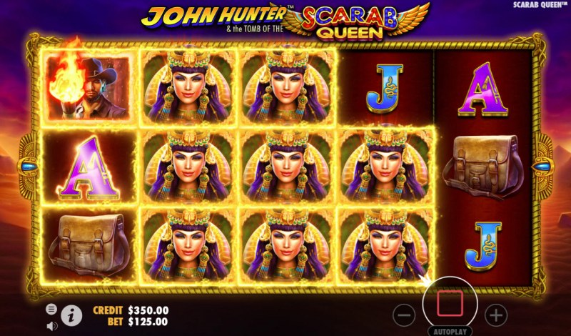 John Hunter & the Tomb of the Scarab Queen :: Multiple winning combinations leads to a big win