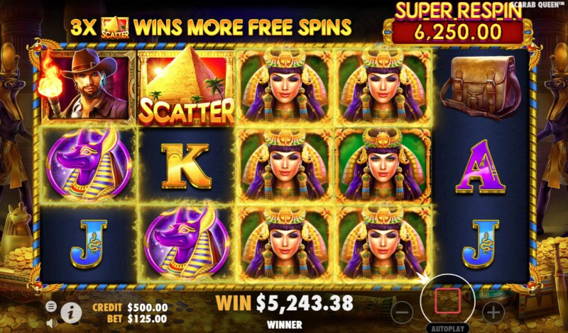 John Hunter & the Tomb of the Scarab Queen :: Multiple winning paylines