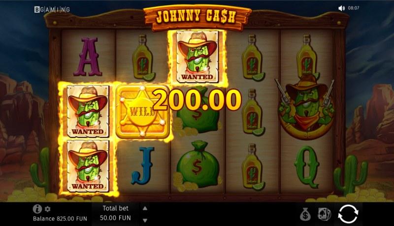 Johnny Cash :: A three of a kind win
