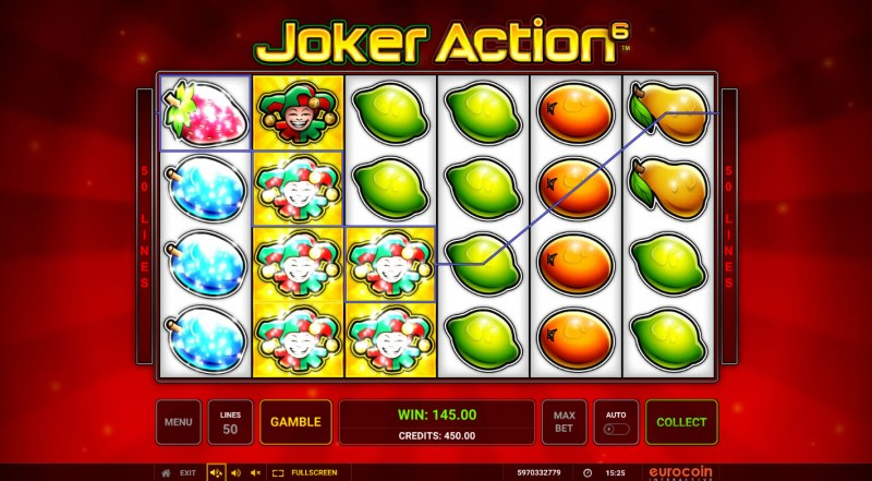 Joker Action 6 :: Multiple winning paylines