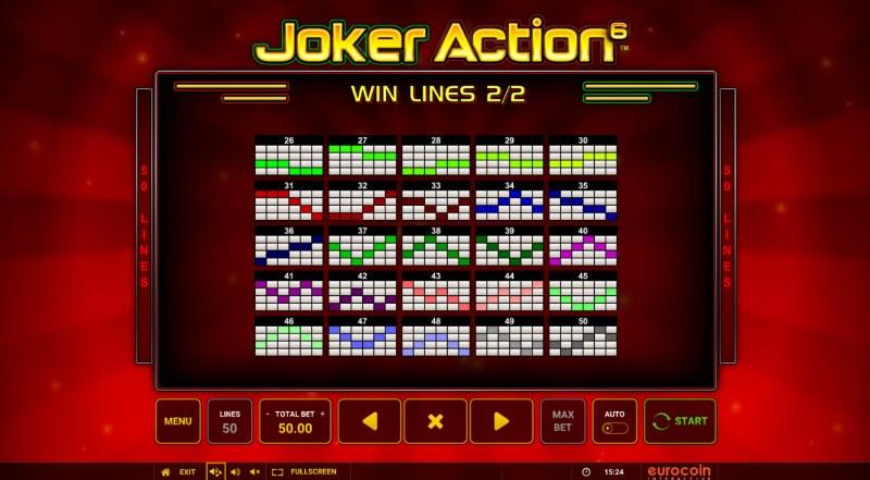 Joker Action 6 :: Paylines 26-50
