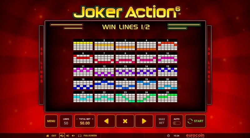 Joker Action 6 :: Paylines 1-25