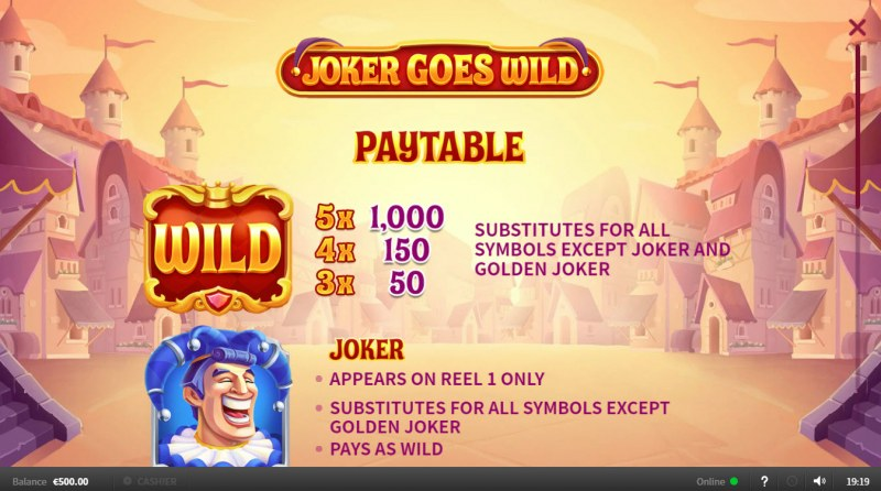 Joker Goes Wild :: Wild Symbols Rules