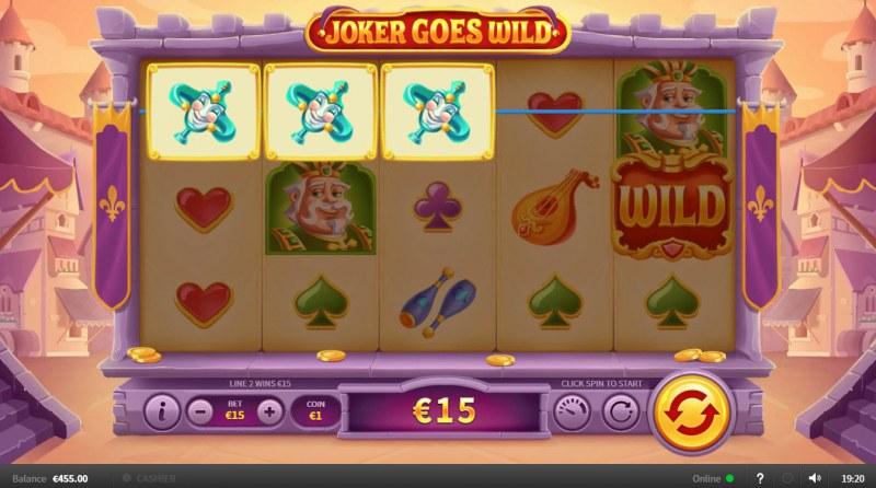 Joker Goes Wild :: Three of a kind