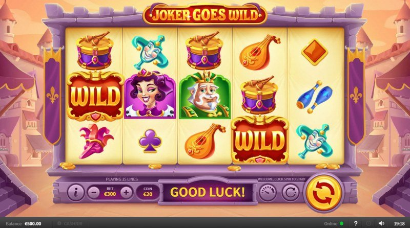 Joker Goes Wild :: Main Game Board