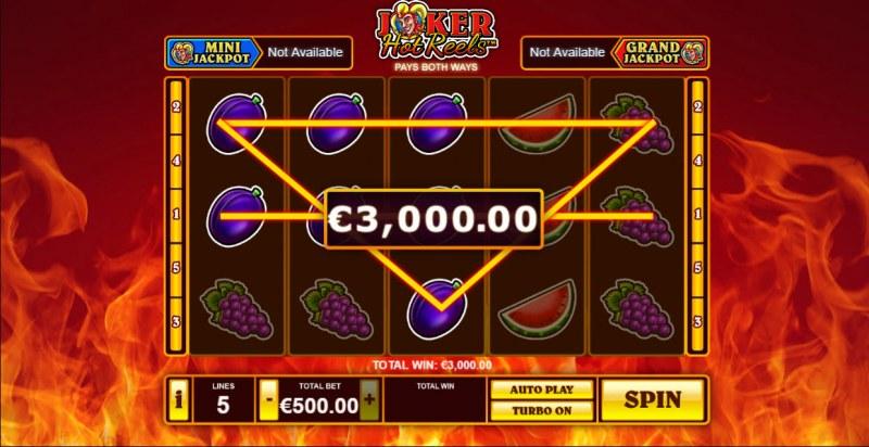 Joker Hot Reels :: Multiple winning paylines