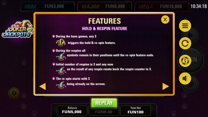 Joker Jackpots :: Feature Rules