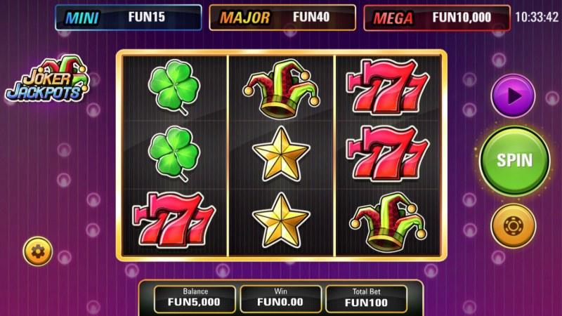 Joker Jackpots :: Main Game Board