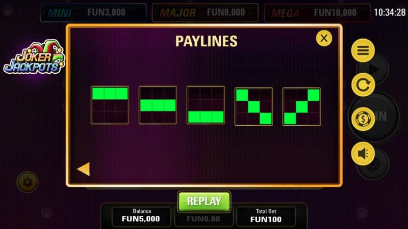 Joker Jackpots :: Paylines 1-5