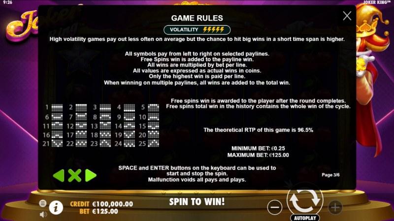 Joker King :: General Game Rules
