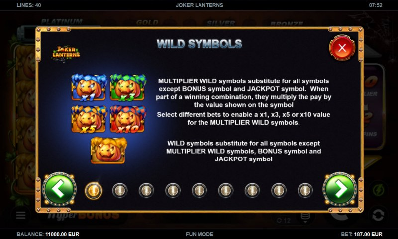 Joker Lanterns :: Wild Symbol Rules