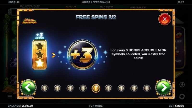 Joker Leprechauns :: Free Spin Feature Rules