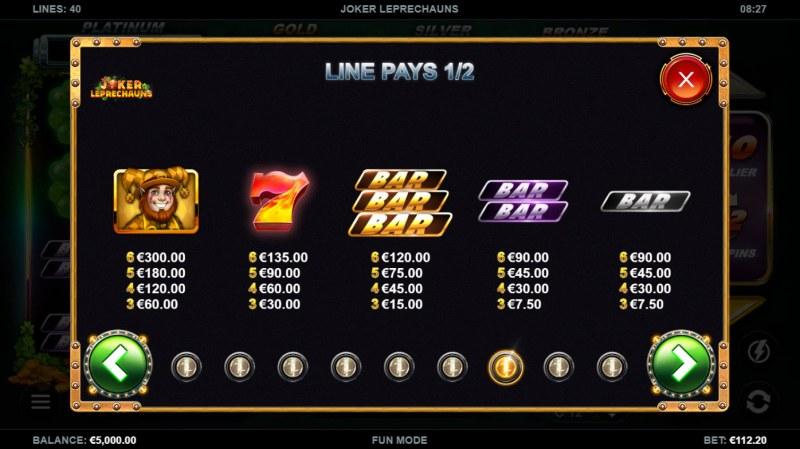 Joker Leprechauns :: Paytable - High Value Symbols