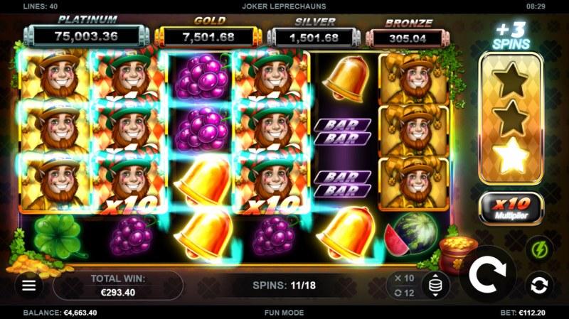 Joker Leprechauns :: Multiple winning combinations lead to a big win