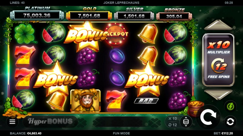 Joker Leprechauns :: Scatter symbols triggers the free spins bonus feature
