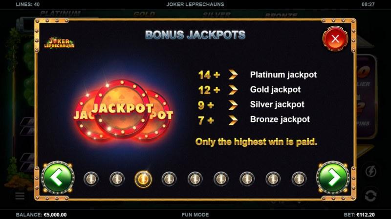 Joker Leprechauns :: Jackpot Rules