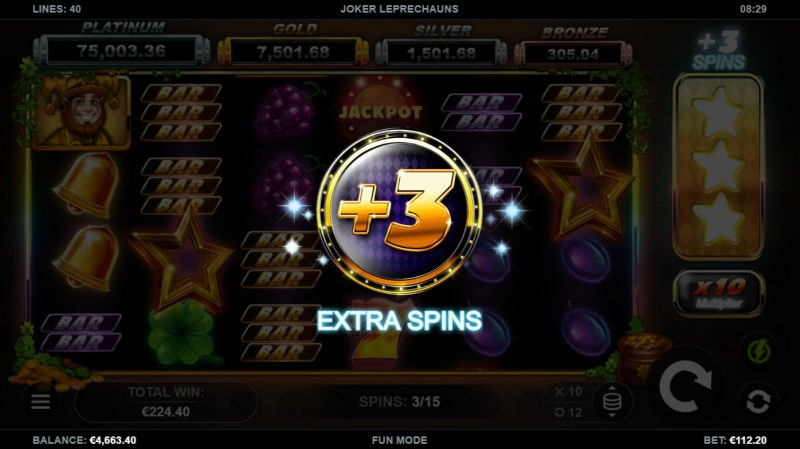 Joker Leprechauns :: +3 Extra Spins awarded after collecting three stars