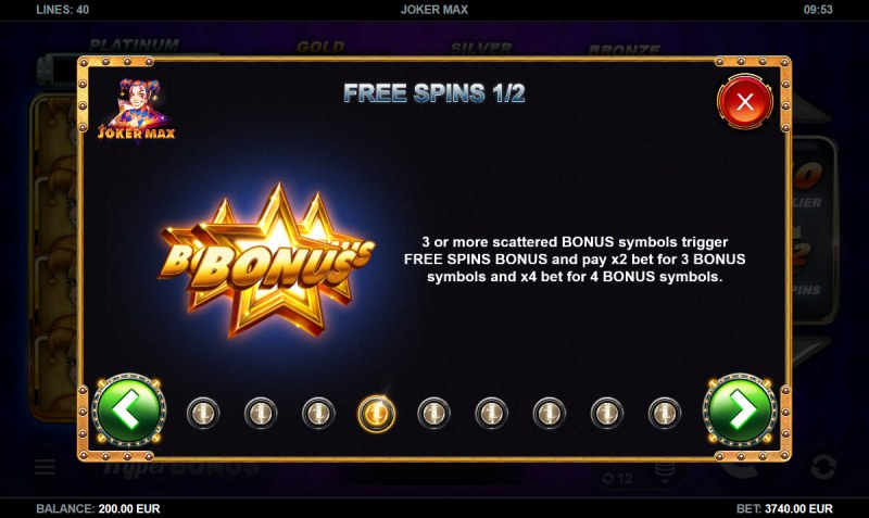 Joker Max :: Free Spins Rules