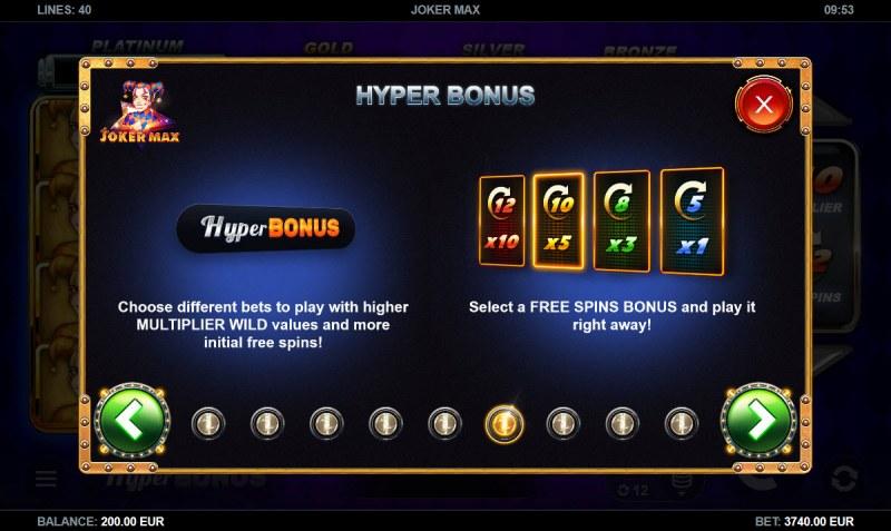 Joker Max :: Hyper Bonus
