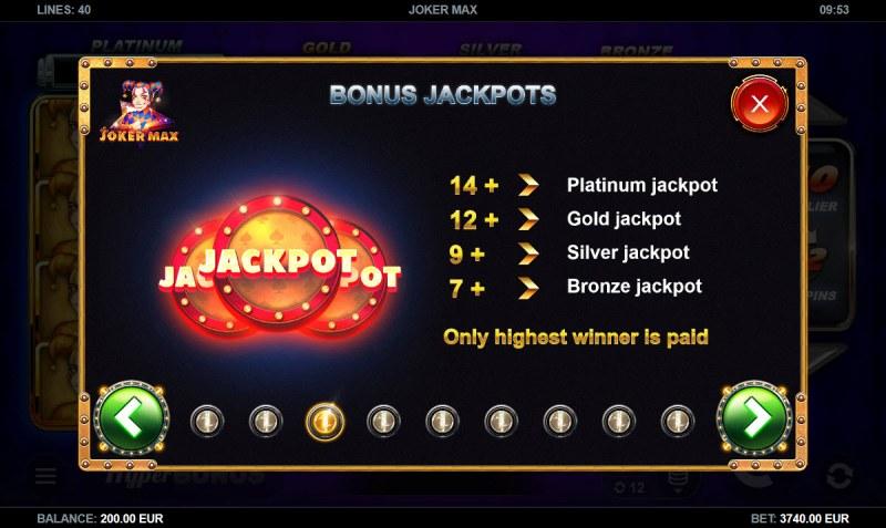 Joker Max :: Bonus Jackpots