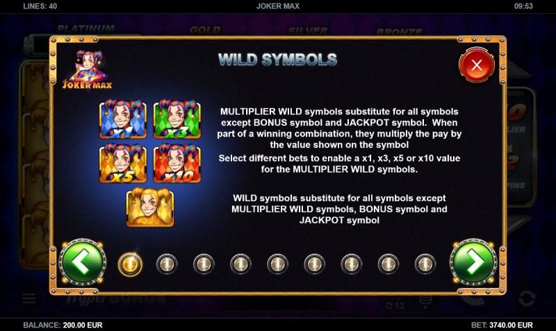 Joker Max :: Wild Symbols Rules