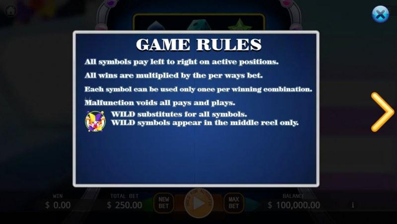Joker Slot :: General Game Rules