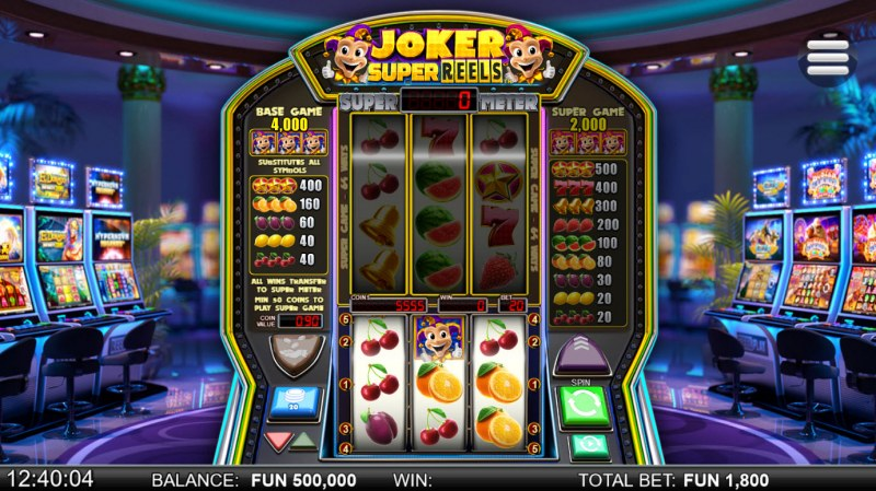 Joker Super Reels :: Main Game Board