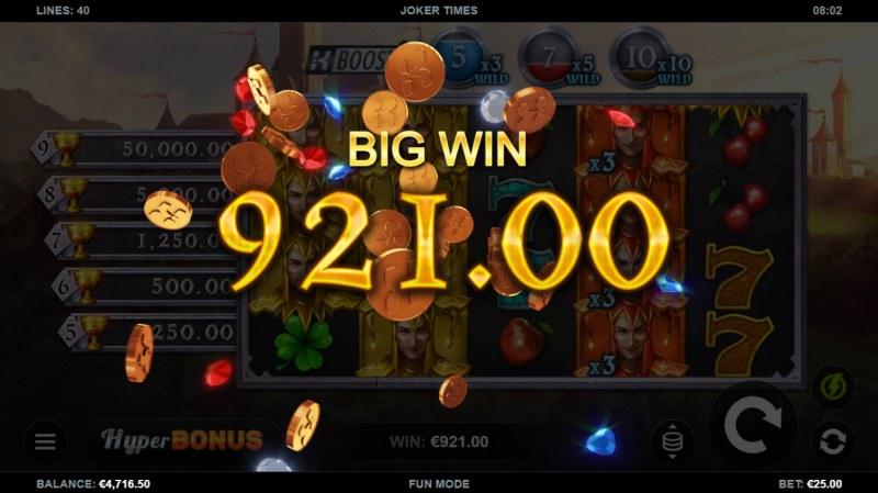 Joker Times :: Multiple winning combinations lead to a big win