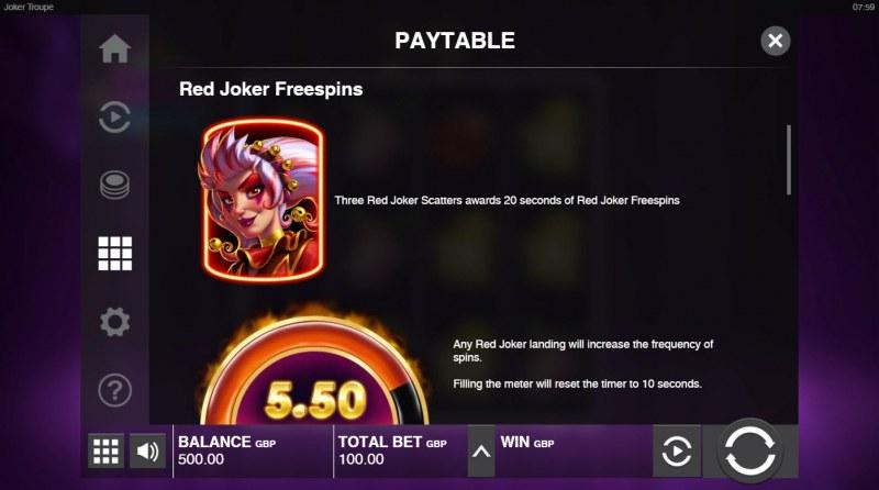 Joker Troupe :: Red Joker Free Spins