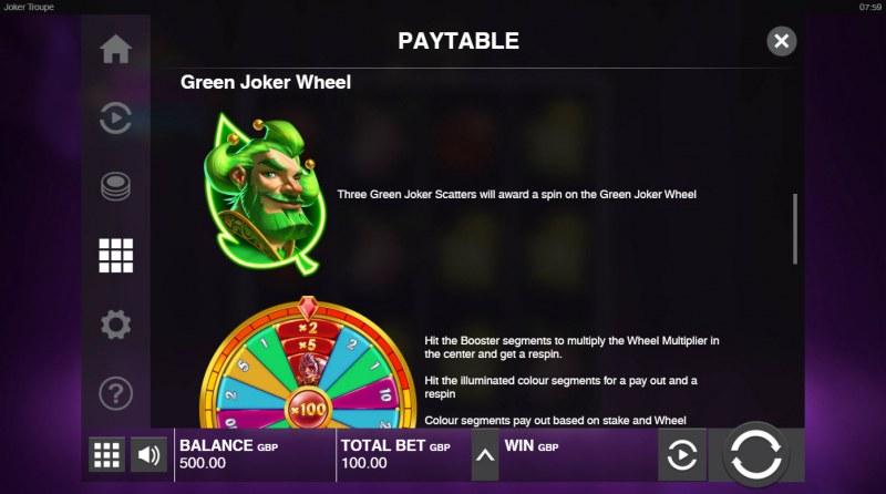 Joker Troupe :: Green Joker Wheel