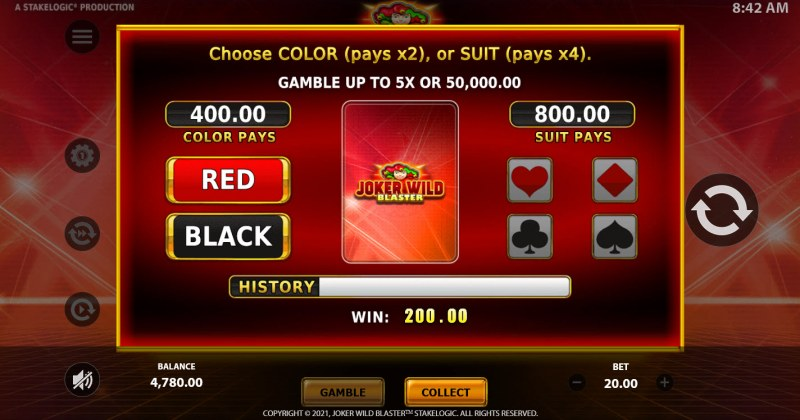 Joker Wild Blaster :: Gamble feature