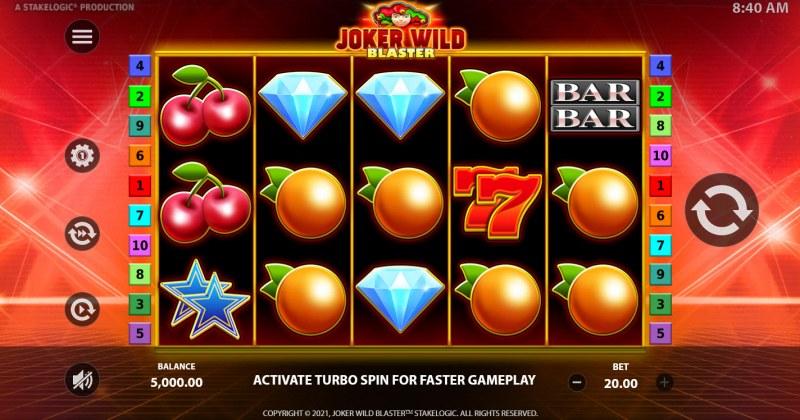 Joker Wild Blaster :: Base Game Screen