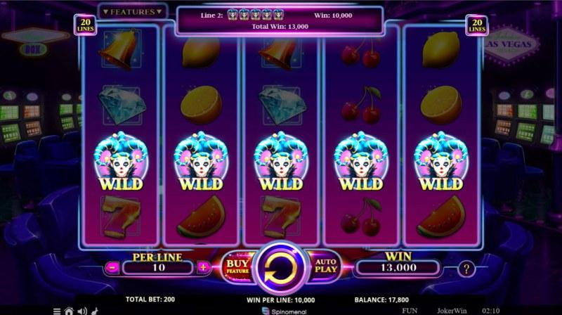 Joker Win :: A five of a kind win