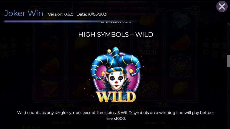 Joker Win :: Wild Symbol Rules