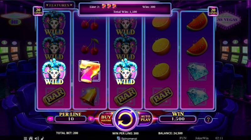 Joker Win :: Synced Reels leads to multiple winning combinations