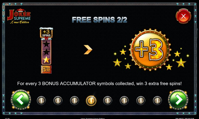 Joker Supreme X-mas Edition :: Free Spins Rules