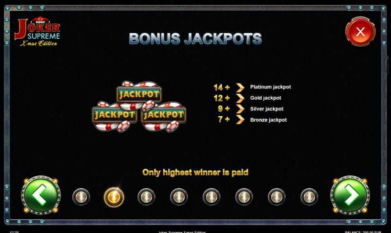 Joker Supreme X-mas Edition :: Bonus Jackpots