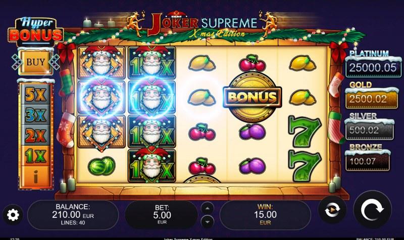 Joker Supreme X-mas Edition :: Multiple winning paylines