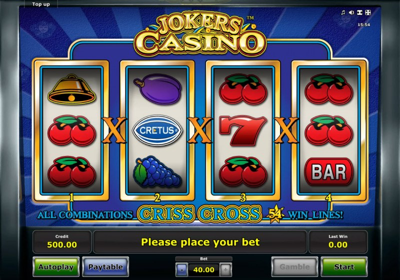 Jokers Casino :: Base Game Screen