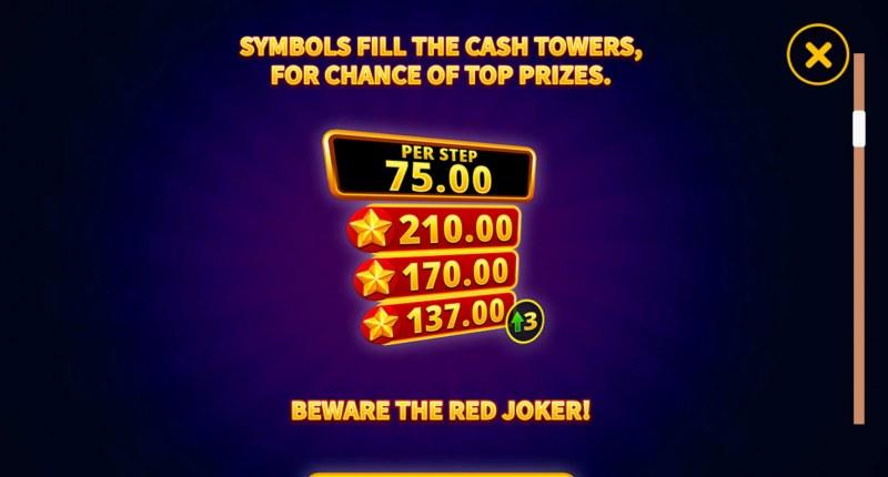 Joker's Luck Deluxe :: Symbils fill the Cash Towers
