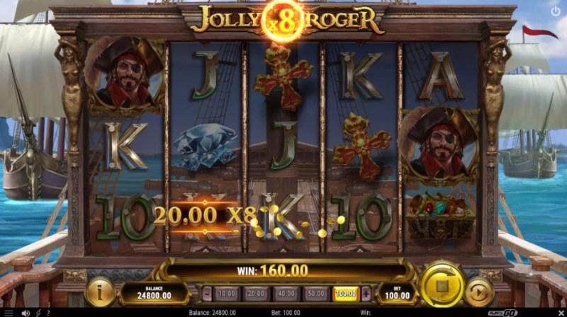 Jolly Roger II :: An x8 win multiplier awarded