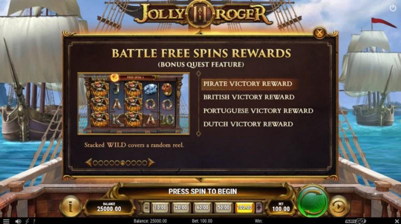 Jolly Roger II :: Battle Free Spin Rewards