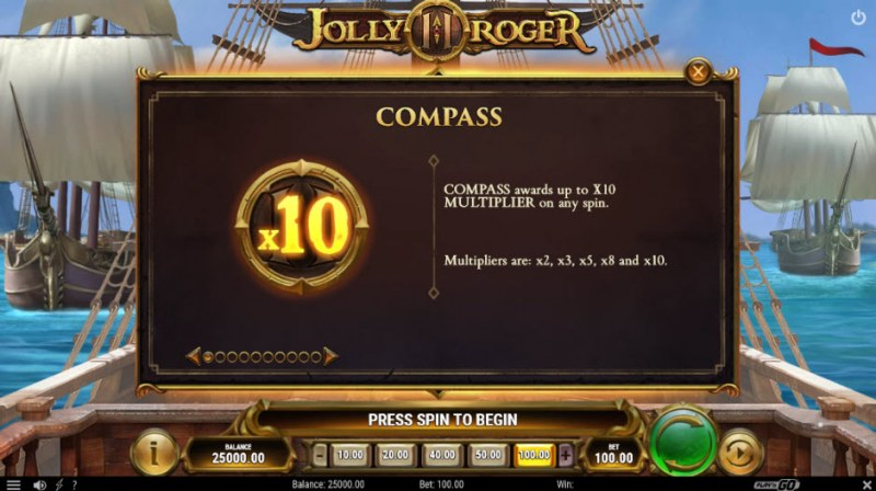 Jolly Roger II :: Win Multiplier Feature
