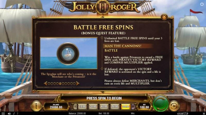 Jolly Roger II :: Battle Free Spin