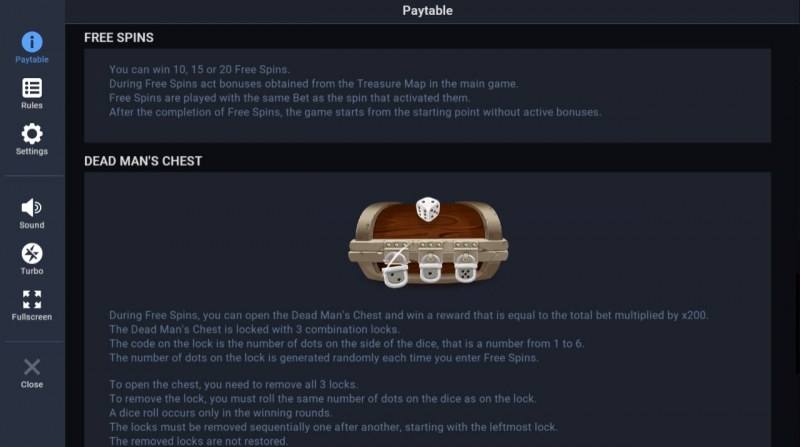 Jolly Treasures :: Free Spin Feature Rules